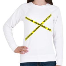 PRINTFASHION police-line - Női pulóver - Fehér