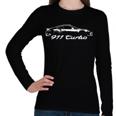 PRINTFASHION Porsche 911 turbo - Női hosszú ujjú póló - Fekete