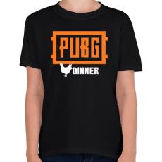 PRINTFASHION PUBG DINNER - Gyerek póló - Fekete