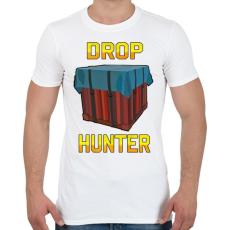 PRINTFASHION PUBG - Drop Hunter - Férfi póló - Fehér