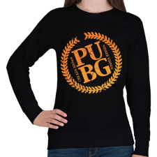 PRINTFASHION PUBG LOGO - Női pulóver - Fekete női pulóver, kardigán