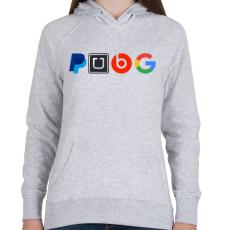 PRINTFASHION PUBG logo paródia - Női kapucnis pulóver - Sport szürke