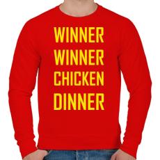 PRINTFASHION PUBG - WINNER WINNER CHICKEN DINNER - Férfi pulóver - Piros