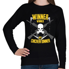 PRINTFASHION PUBG - WINNER WINNER CHICKEN DINNER - Női pulóver - Fekete