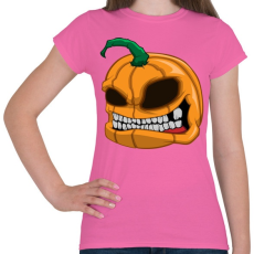 PRINTFASHION Pumpkin - Női póló - Rózsaszín