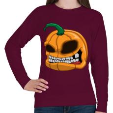 PRINTFASHION Pumpkin - Női pulóver - Bordó