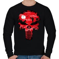 PRINTFASHION Punisher - Férfi pulóver - Fekete