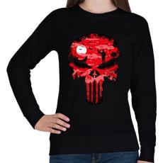 PRINTFASHION Punisher - Női pulóver - Fekete
