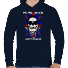 PRINTFASHION Punk rock - Férfi kapucnis pulóver - Sötétkék
