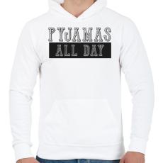 PRINTFASHION Pyjamas all day - Férfi kapucnis pulóver - Fehér
