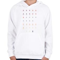 PRINTFASHION Quarks - Gyerek kapucnis pulóver - Fehér