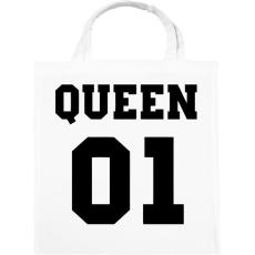 PRINTFASHION Queen - Vászontáska - Fehér