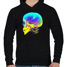 PRINTFASHION Radikális gondolatok - Férfi kapucnis pulóver - Fekete