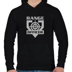 PRINTFASHION Range Officer - Férfi kapucnis pulóver - Fekete