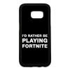 PRINTFASHION Rather Be Playing Fortnite - Telefontok - Fekete hátlap