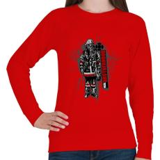 PRINTFASHION Real Brotherhood - Női pulóver - Piros