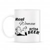 PRINTFASHION Real Women Drink BEER - Bögre - Fehér