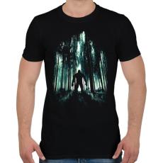 PRINTFASHION Rejtélyes alak - Férfi póló - Fekete