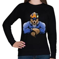 PRINTFASHION Rescue Bear - Női pulóver - Fekete