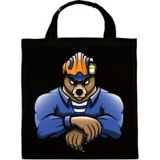 PRINTFASHION Rescue Bear - Vászontáska - Fekete