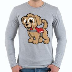 PRINTFASHION Rescue Puppy - Férfi hosszú ujjú póló - Sport szürke