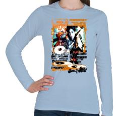 PRINTFASHION REVOLUTION - Női hosszú ujjú póló - Világoskék