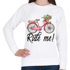 PRINTFASHION Ride me! - Női pulóver - Fehér