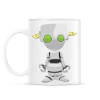 PRINTFASHION Robot - Bögre - Fehér