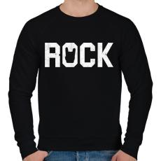 PRINTFASHION Rock and roll - Férfi pulóver - Fekete