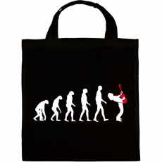 PRINTFASHION Rock evolúció - Vászontáska - Fekete