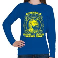 PRINTFASHION Rockabilly borbély - Női pulóver - Királykék