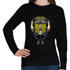 PRINTFASHION Rokker - Női pulóver - Fekete