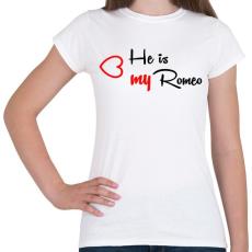 PRINTFASHION Rómeó - Női póló - Fehér