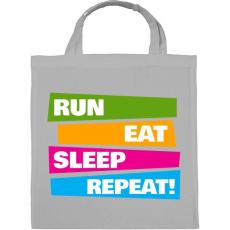 PRINTFASHION Run Eat Sleep Repeat! - Futás - Vászontáska - Szürke