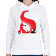 PRINTFASHION S like fox - Női kapucnis pulóver - Fehér
