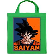 PRINTFASHION Saiyan Goku - Vászontáska - Zöld