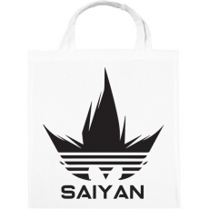 PRINTFASHION Saiyan - Vászontáska - Fehér