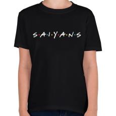 PRINTFASHION SAIYANS - Gyerek póló - Fekete