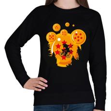 PRINTFASHION Sárkány hold - Női pulóver - Fekete