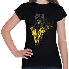 PRINTFASHION Scorpion - Női póló - Fekete