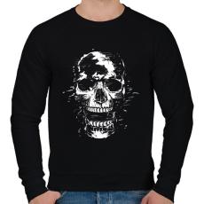 PRINTFASHION Scream - Férfi pulóver - Fekete