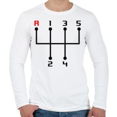 PRINTFASHION sebessegvaltó-2-2-szín - Férfi hosszú ujjú póló - Fehér