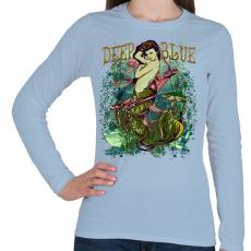 PRINTFASHION Sellő - Női hosszú ujjú póló - Világoskék