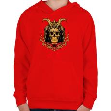PRINTFASHION Shogun - Gyerek kapucnis pulóver - Piros