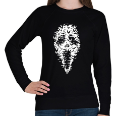 PRINTFASHION Sikoly denevérek - Női pulóver - Fekete