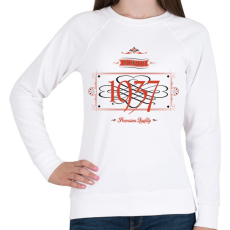 PRINTFASHION since-1937-red-black - Női pulóver - Fehér