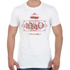 PRINTFASHION since-1940-red-black - Férfi póló - Fehér