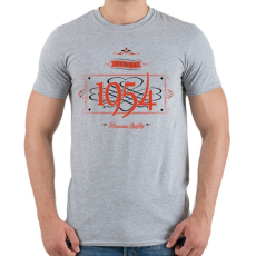 PRINTFASHION since-1954-red-black - Férfi póló - Sport szürke