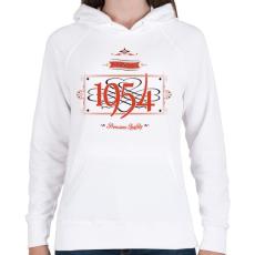 PRINTFASHION since-1954-red-black - Női kapucnis pulóver - Fehér