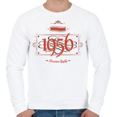 PRINTFASHION since-1956-red-black - Férfi pulóver - Fehér